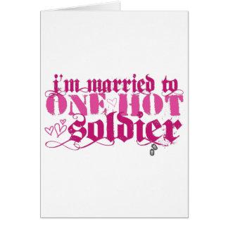 Casado con uno caliente… tarjeta de felicitación