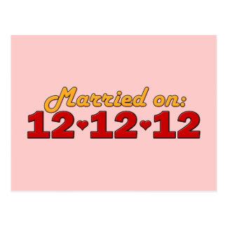 Casado en 12.12.12 postal