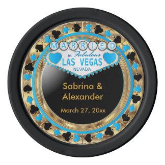 Casado en el azul de Las Vegas el | Fichas De Póquer