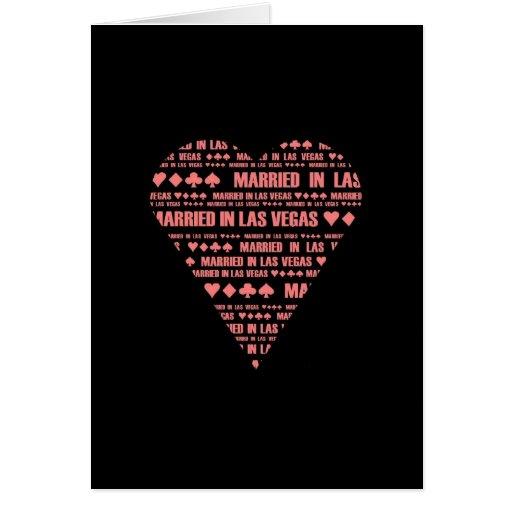 Casado en el negro/el rojo de Las Vegas Tarjeta Pequeña
