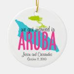 Casado en el ornamento de Aruba Ornamento De Reyes Magos