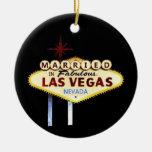 CASADO en el ornamento del recuerdo de Las Vegas Ornato