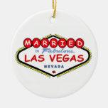 CASADO en el ornamento fabuloso de Las Vegas Ornamento De Reyes Magos