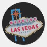 CASADO en el pegatina fabuloso de Las Vegas