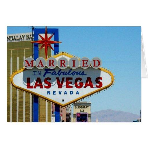 Casado en la tarjeta de Las Vegas