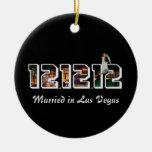 Casado en Las Vegas 12 el ornamento 12 12 Ornamentos De Navidad