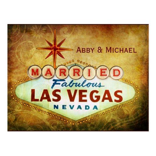 Casado en LAS VEGAS fabuloso Postal