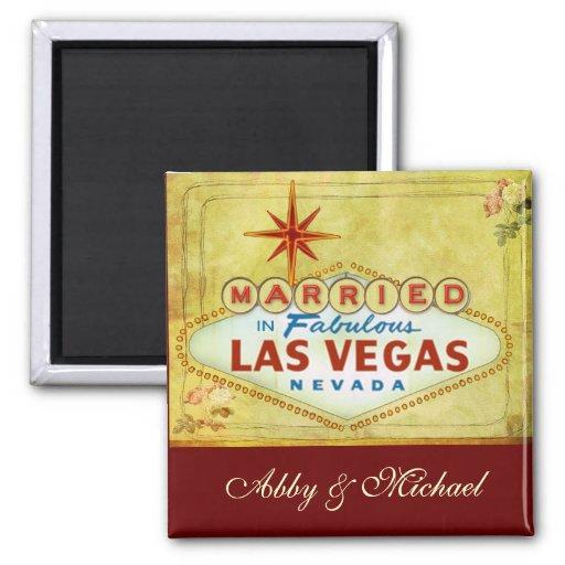 Casado en Las Vegas fabuloso - vintage Imán Cuadrado