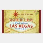 Casado en Las Vegas fabuloso - vintage Pegatinas