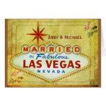 Casado en Las Vegas fabuloso - vintage Felicitacion