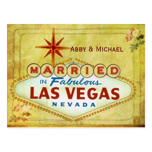 Casado en Las Vegas fabuloso - vintage Tarjeta Postal
