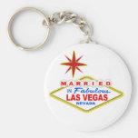 Casado en Las Vegas Llaveros Personalizados