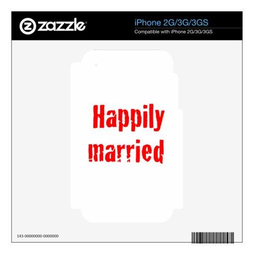 casado feliz calcomanía para iPhone 3GS