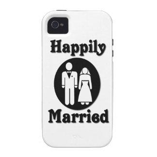 Casado feliz iPhone 4/4S fundas