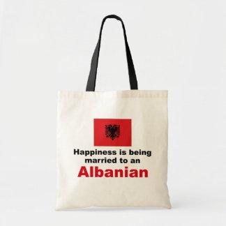 Casado feliz con el albanés bolsa tela barata