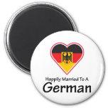 Casado feliz con un alemán imán para frigorifico