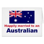 Casado feliz con un australiano felicitación