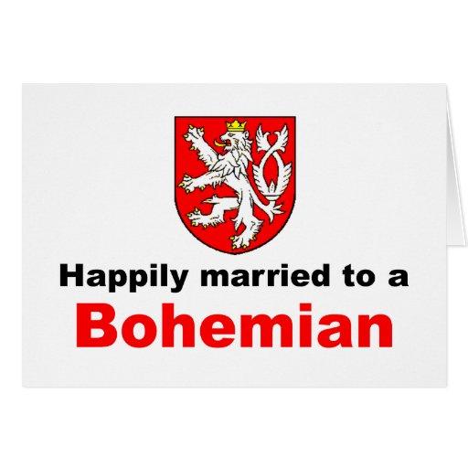 Casado feliz con un bohemio tarjeta de felicitación