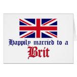 Casado feliz con un británico felicitación