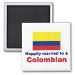 Casado feliz con un colombiano imán para frigorifico