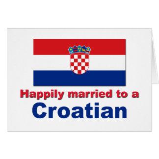 Casado feliz con un croata tarjeta de felicitación