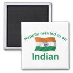 Casado feliz con un indio imán para frigorifico