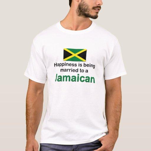 Casado feliz con un jamaicano playera