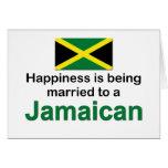 Casado feliz con un jamaicano tarjetón