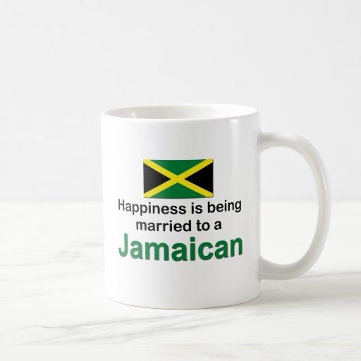 Casado feliz con un jamaicano taza