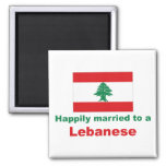 Casado feliz con un libanés imán de frigorífico