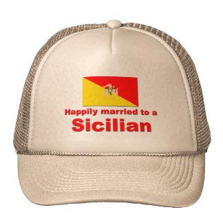 Casado feliz con un siciliano gorros bordados