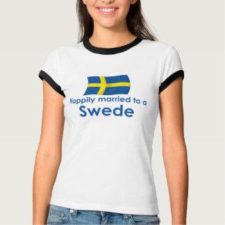 Casado feliz con un sueco playera
