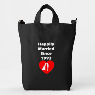 Casado feliz desde 1993 bolsa de lona duck