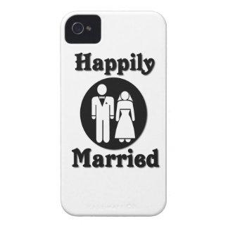 Casado feliz iPhone 4 Case-Mate protector