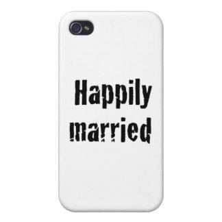 casado feliz iPhone 4 protector