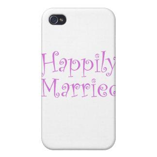 Casado feliz iPhone 4 cárcasas