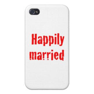 casado feliz iPhone 4/4S funda