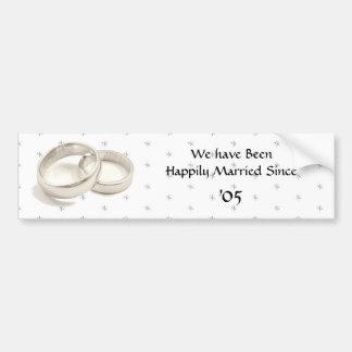Casado feliz pegatina para auto
