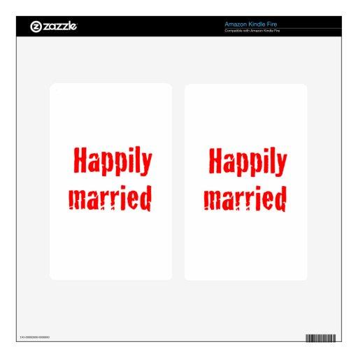 casado feliz pegatinas skins para kindle fire