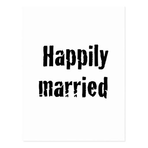 casado feliz postales