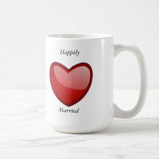 Casado feliz tazas