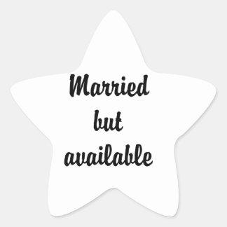 casado pero disponible pegatina en forma de estrella