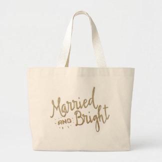 """""""Casado y brillante"""" casando el tote que lleva Bolsa Tela Grande"""