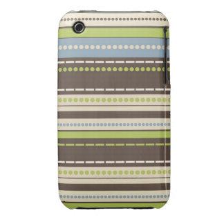 Casamata 3GS del iPhone 3G el   de Stripey iPhone 3 Cárcasa