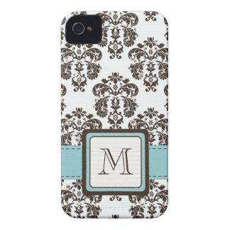 Casamata 4s C del iPhone 4 del damasco de Brown az iPhone 4 Case-Mate Carcasas