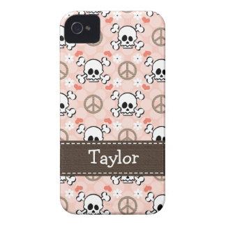 Casamata 4s Co del iPhone rosado 4 del cráneo y de iPhone 4 Case-Mate Protectores