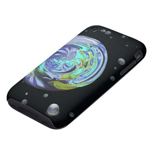 Casamata abstracta iPhone3 de los planetas de la Tough iPhone 3 Carcasas
