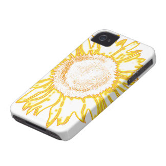 Casamata amarilla Barely There del iPhone 4 del gi iPhone 4 Case-Mate Protectores