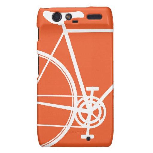 Casamata anaranjada Motorola Droid RAZR de la bici Droid RAZR Fundas