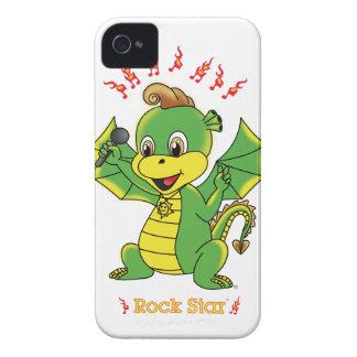 Casamata apenas There™ de Rockstar™ 4 4S del dragó iPhone 4 Protectores